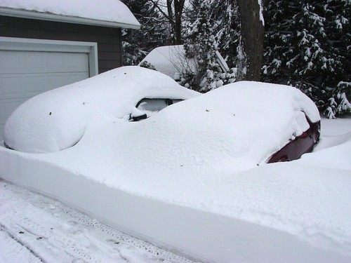cars buried