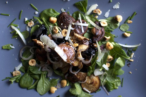 warm mushroom salad with hazelnuts | smitten kitchen
