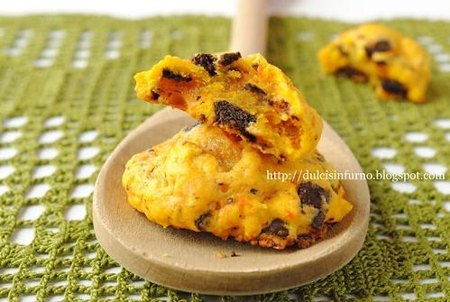 Biscotti di Zucca e Cioccolato-Pumpkin Chocolate Chip Cookies