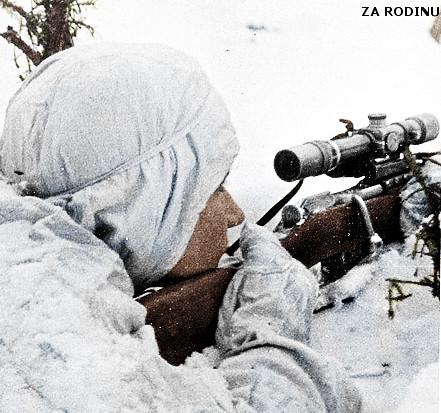 Soviet sniper in Finland