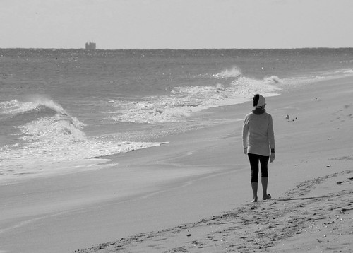 Walk the beach by Alida's Photos