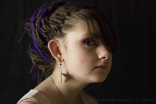 Girl with a Star Earing