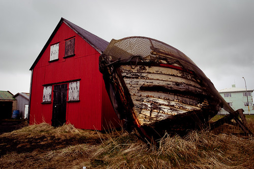 Iceland - Barn and Boat