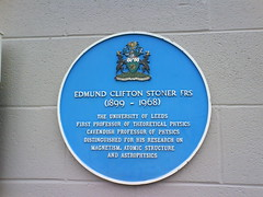 Photo of Edmund Clifton Stoner blue plaque