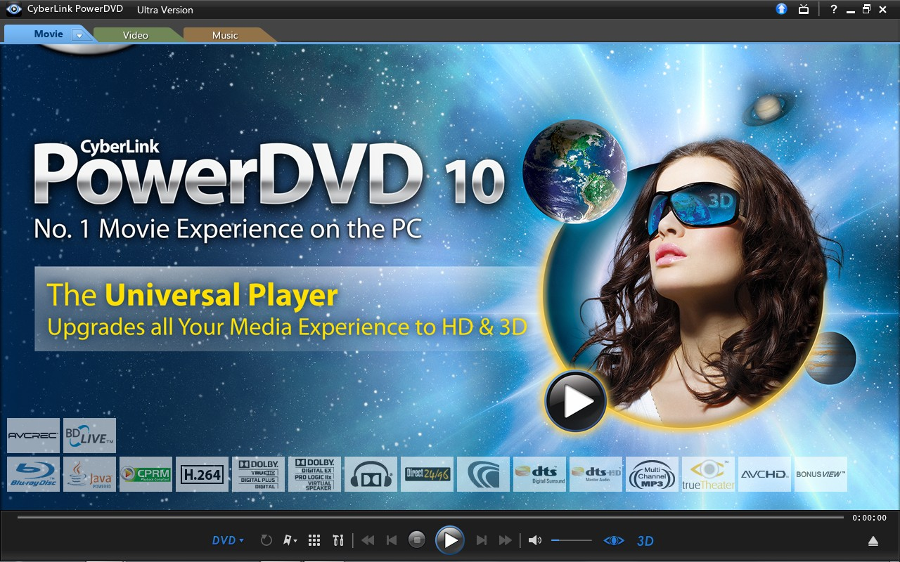 CyberLink PowerDVD 10 Ultra 3D v10 0 15121 XP[PAK] keygen