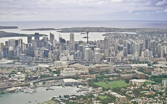 Sydney from the Plane (Sarmu) Tags: city wallpaper sky urban building tower skyline skyscraper plane airplane highresolution downtown cityscape view skyscrapers harbour widescreen sydney australia aeroplane aerial 1600 nsw highdefinition resolution newsouthwales 1200 cbd hd wallpapers 1920 2010 ws sydneytower 1080 oceania 1050 720p 1080p urbanity portjackson 1680 720 2560 sarmu