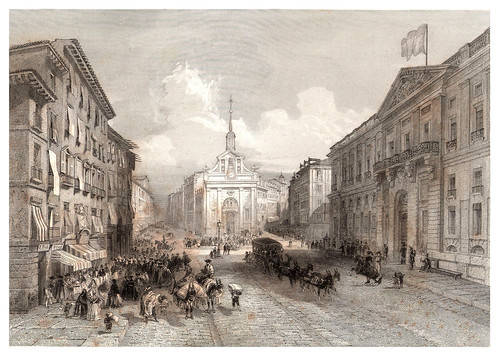022-Madrid-La Puerta del Sol-Voyage pittoresque en Espagne et en Portugal 1852- Emile Bégin