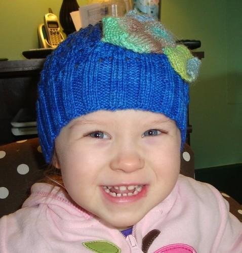 Clover loves her new hat