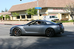 Nissan GT-R (Have Fun SVO) Tags: auto ca car grey la losangeles nissan wheels spotting gtr blackrims woodlandhills supercarsunday