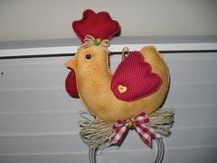Galinha (dinorahramos) Tags: galinha pano tecidos appliqu botes patchcolagem panodeprato portapanoprato