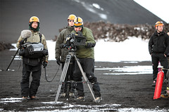 Top Gear filming the action (skarpi - www.skarpi.is) Tags: trip hot sports car truck volcano lava james iceland driving action extreme may arctic ashes crew toyota ash trucks filming sland tg rsmrk topgear hilux jkull fimmvruhls eyjafjallajkull eyjafjallajokull jamesmay skarpi arctictrucks