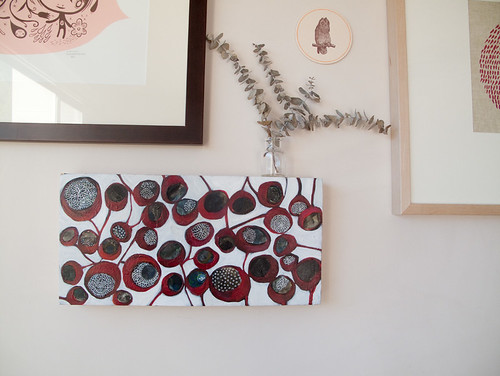 'blood pods' painting by Tsk Tsk