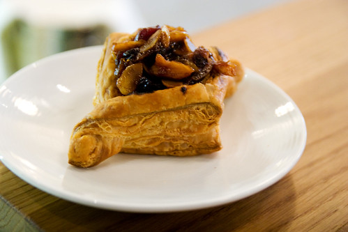 flaky tart thing with fruit and nuts?