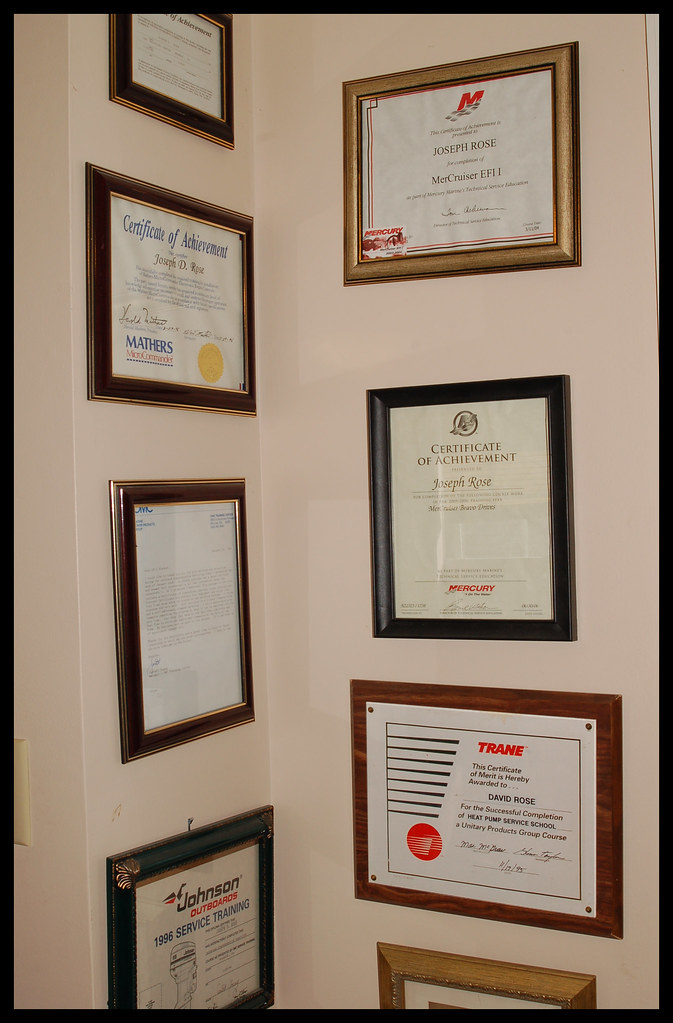 A few of my Technical Certificates