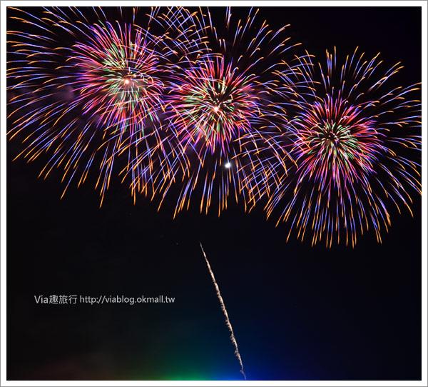 【澎湖花火節】2011澎湖海上花火節,浪漫的夏日海上煙花實況!7