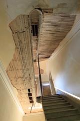 Stairs, looking up, from the first floor (Black.Doll) Tags: brick abandoned alabama plantation tinroof blackbelt greekrevival 1845 dallascounty elmbluff silentintheland blackbeltofalabama
