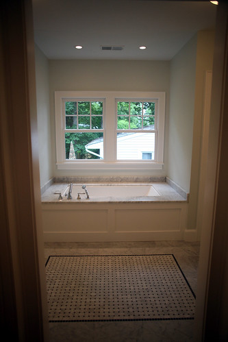 Looking into master bath