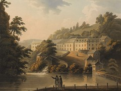 Matlock Bath (Enlightenment!) Tags: derwent derbyshire matlock chatsworth 1805 mezzotint matlockbath riverderwent chatsworthatticsale johnbluck