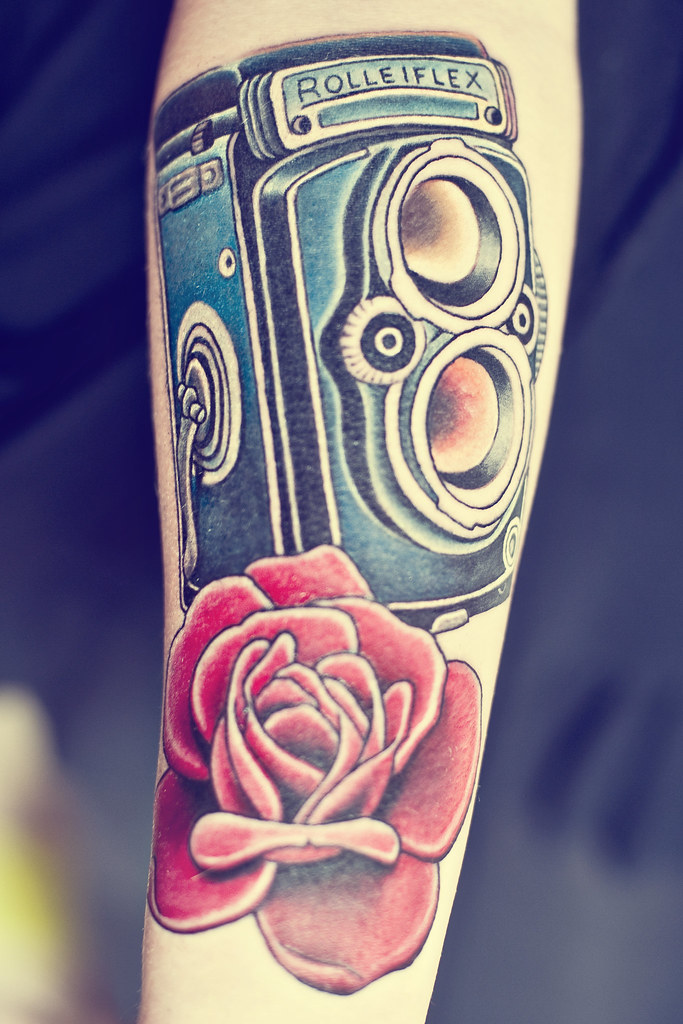 Rolleiflex Tattoo.... Part of a sleeve.