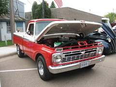 Pretty F-100 (ilgunmkr - Thanks for 5,000,000+ Views) Tags: cruisenight carshow tonicaillinois fordtruck ford f100 shortbed customcab 1966