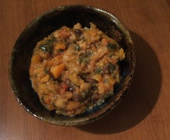 West African vegetable soup with couscous
