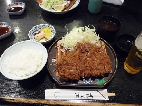 My lucky tonkatsu meal at とんかつ三太