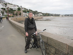 Tony on his bike at St Aubin