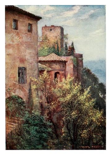 030-Granada-Exterior de la Alhambra-Southern Spain 1908- Trevor Haddon