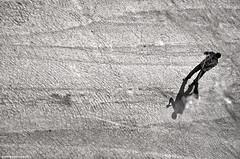 hard day at work (piotr.pedziszewski) Tags: street shadow man turkey pattern desert cleaning dirt waste mardin broom