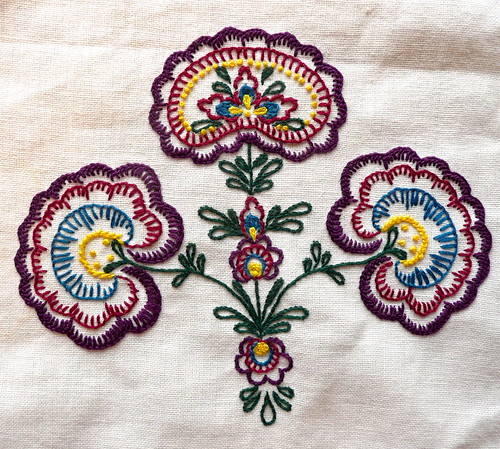 Tea Towel Stitching by Pearliepie