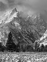 ELEVATION (P. Oglesby) Tags: autumn blackandwhite snow mountains wyoming 1001nights breathtaking blackdiamond grandtetonnp thehighlander godlovesyou cathedralgroup platinumheartaward breathtakinggoldaward breathtakinghalloffame 1001nightsmagiccity photocontesttnc10