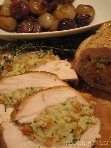 Persimmon & CousCous Stuffed Turkey