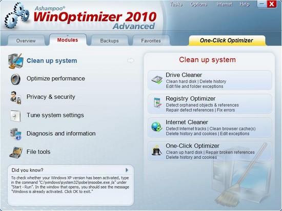 Ashampoo WinOptiomizer 2010 Advanced