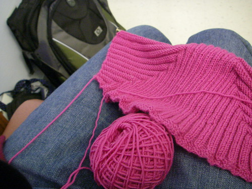 knitting and sitting