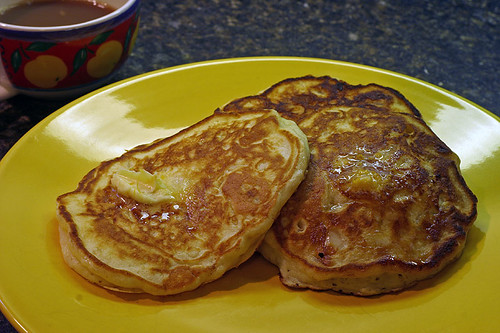 Banana Macadamia Pancakes