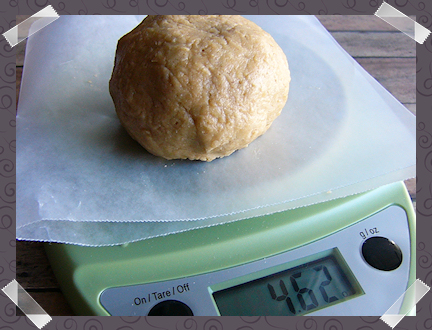 Apple Tarts - Weighing the dough