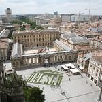 Bordeaux: Vue aérienne Place Pey-Berland et Palais Rohan