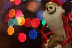 Sandy Claws EXPLORED! (stacibug) Tags: christmas jack bokeh nightmarebeforechristmas thepumpkinking