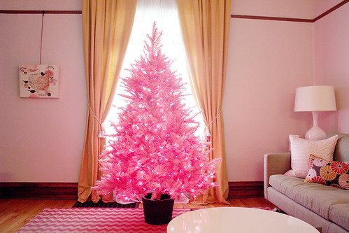 Pink Treetopia Christmas tree at Nicole's from Making It Lovely