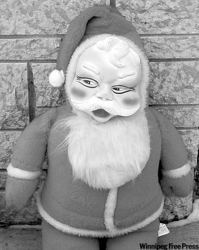 Santa in Black and White from Lynn at  Your Moosey Fate