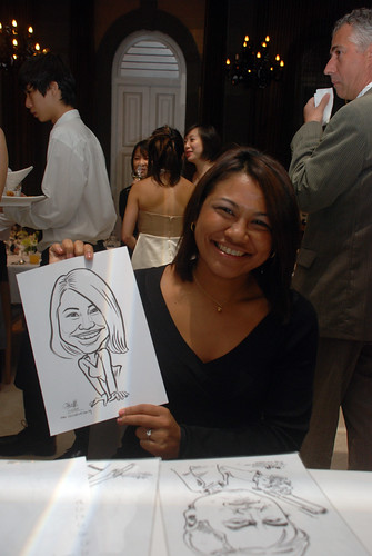 Caricature live sketching for AMEC Party - 2