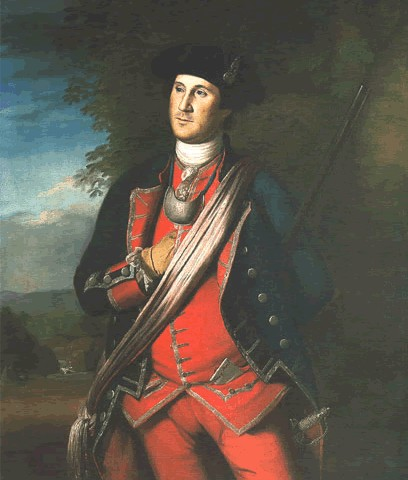 Charles Willson Peale's George Washington in 1772, in the uniform of a colonel of the Virginia Regiment