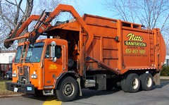 Nitti Sanitation Garbage Truck (TheTransitCamera) Tags: orange trash truck sanitation nitti