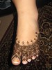 freehand henna design