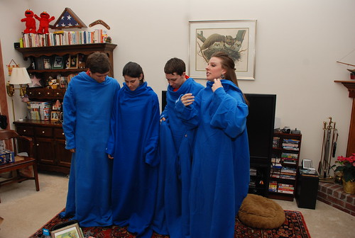 we confer. in the Snuggies.