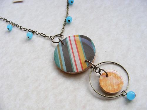 Awning Stripe Pendant Necklace
