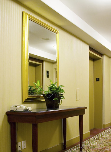 Hotel hall mirror