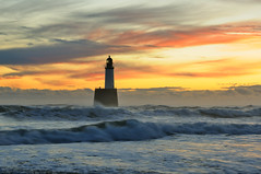Rattray Head sunrise, Aberdeenshire, Scotland (iancowe) Tags: lighthouse beach sunrise scotland waves aberdeenshire head scottish stevenson peterhead rattray mywinners lighthousetrek lightkeeperaward wbnawgbsct