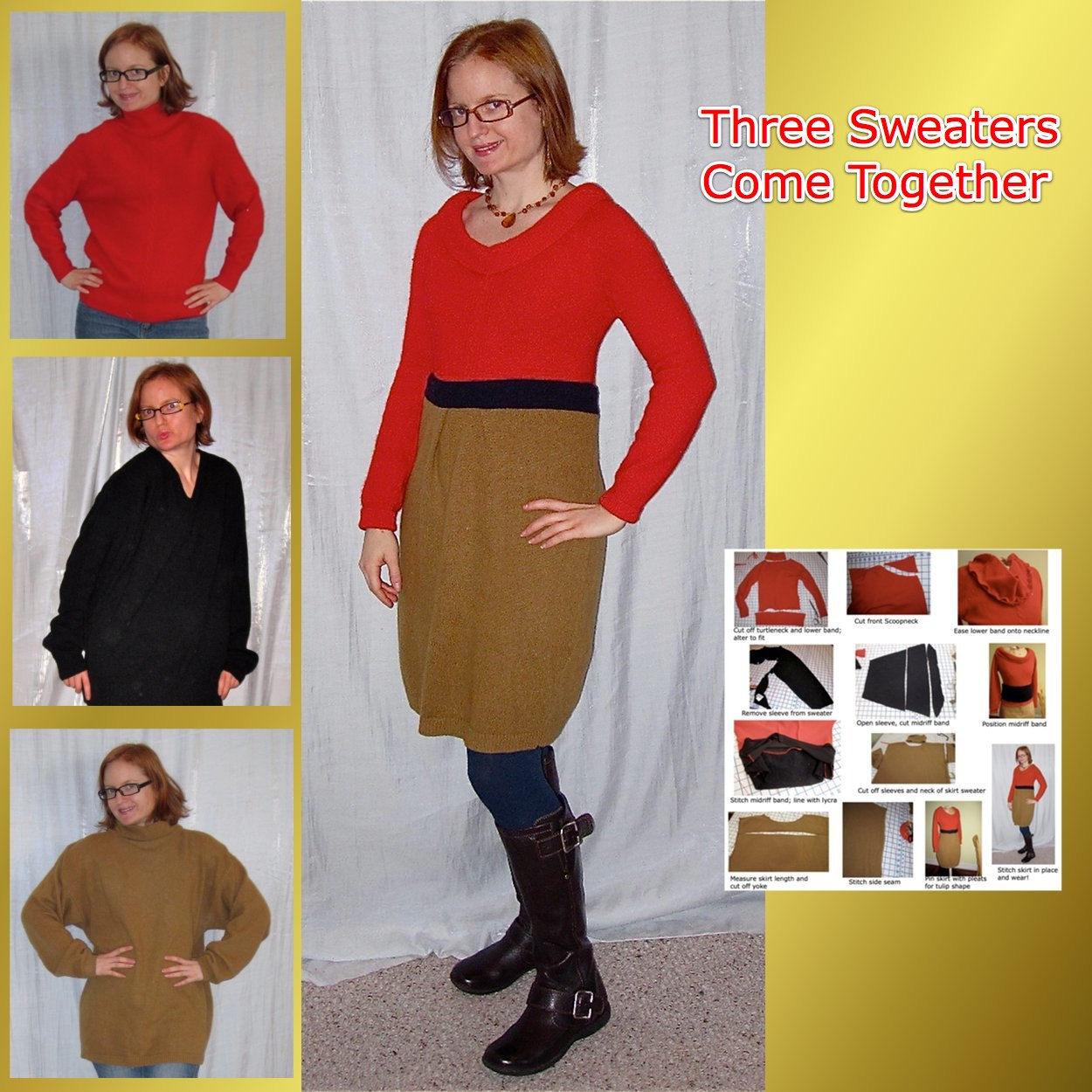 Colorblocked Sweater Dress Thumbnail
