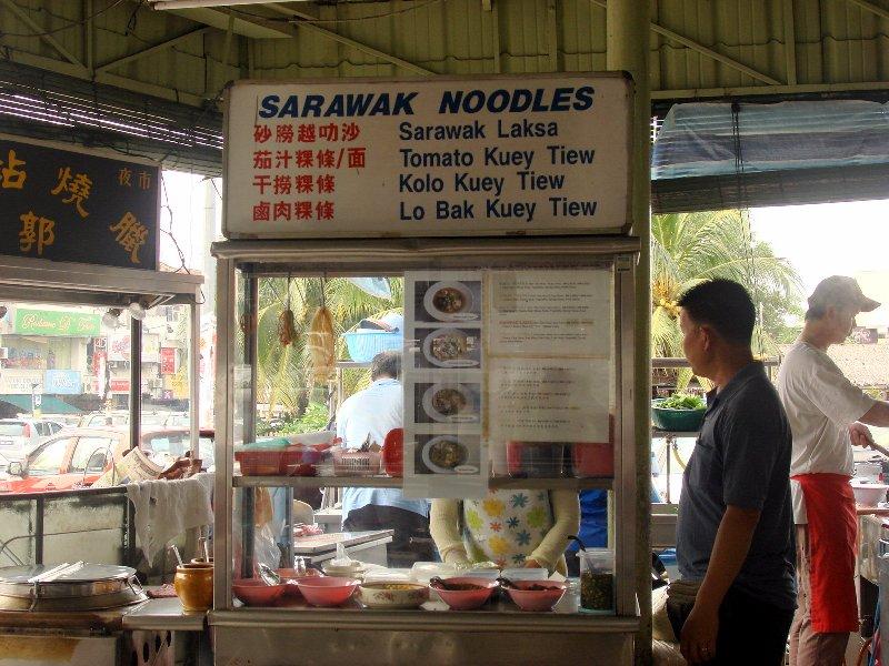 sarawak noodles stall